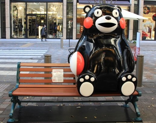Kumamon's Bench Art