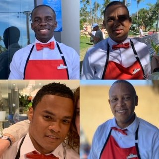 There were four GE mentionables for excellence in service (pictured) in dining: Moises, Radhames, Angel & Jose!