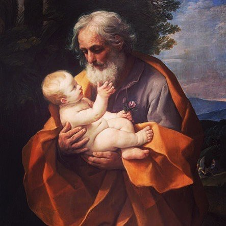 Festa del Papà — Father's Day In some traditional Catholic countries, Father's Day is celebrated on the day of St. Joseph, foster father of Jesus, March 19. Buona Festa del Papà a tutti i Papà Italiani!  Other countries such as France, United Kingdom, and the United States celebrate on the third Sunday in June.  Painting:  San Giuseppe e il bambino Gesù, opera di Guido Reni, 1635 St. Joseph and the baby Jesus, the work of Guido Reni, 1635