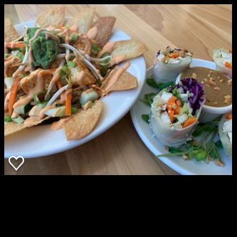 Kimchi Nachos and Spring Rolls for a special. All vegan!