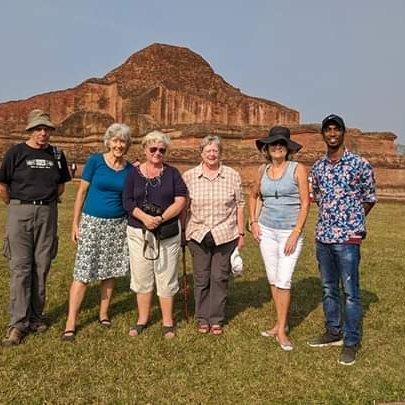 Paharpur Buddhist Monastery visit by a British group