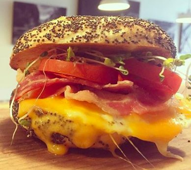 Breakfast options include our Breakfast Bagel!