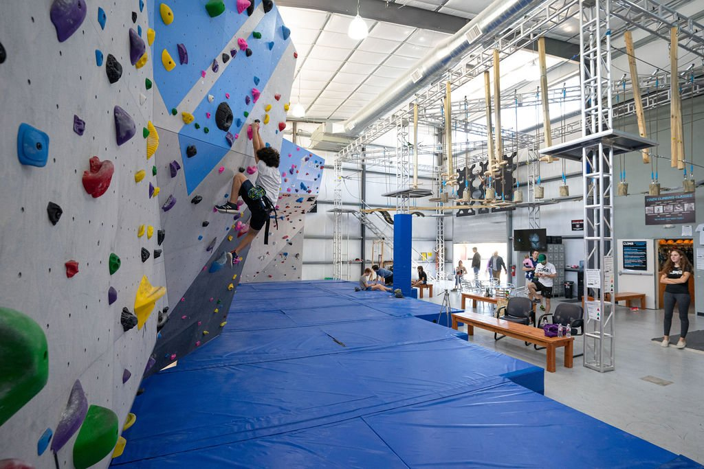 New boulder wall and obstacle course