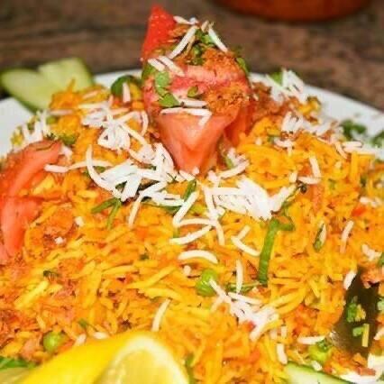 Ein Vegi Biryani ... fleischlose Alternative mit indischen Gewürzen.