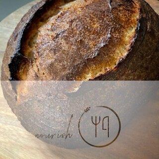 Fermented whole wheat sourdough