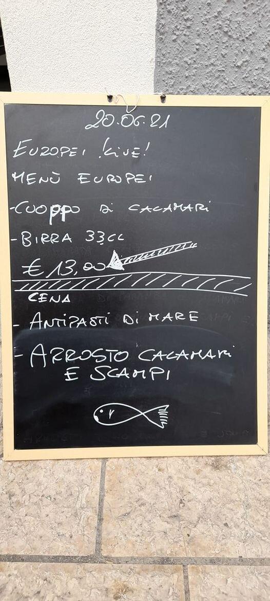 MENU EUROPEI €13