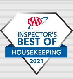 Our 3rd consecutive AAA Best of Housekeeping Award.  Best Western's WE CARE CLEAN program assures every guest a clean and comfortable stay.  Congratulations to our Housekeeping staff for taking pride in our hotel and for their commitment to CLEAN.