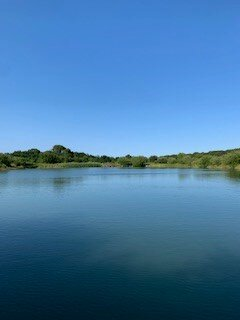 George's Lake - one of our fishing lakes on a beautiful sunny day.