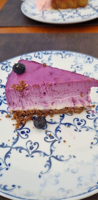 CHEESE CAKE MIRTILO, UMA DELICIA.   Chef extremamente atencioso