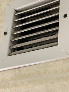 dust on / in vents.
