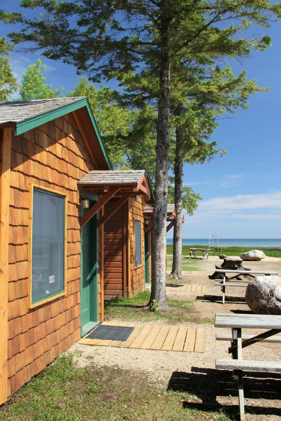 Mackinac lakefront cabin rentals updated 2016 reviews Campground cabin rentals
