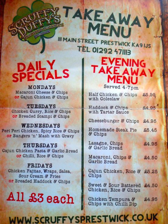 Misleading menu!