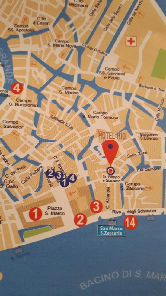 Rio Venezia Hotel UPDATED Prices Reviews Venice Italy - Venice san marco map