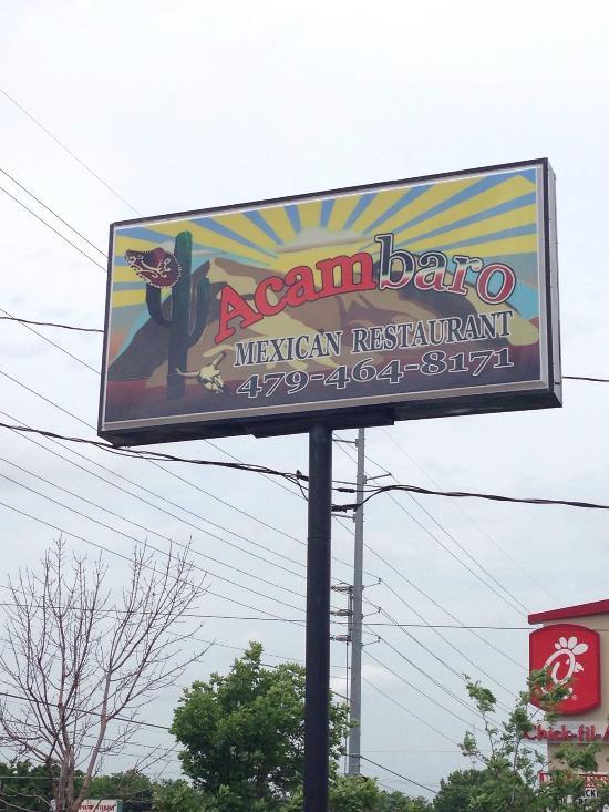 Acambaro Mexican Restaurant Bentonville Ar