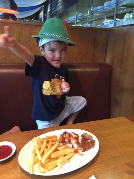 Happy KID at BBC Chatswood :)