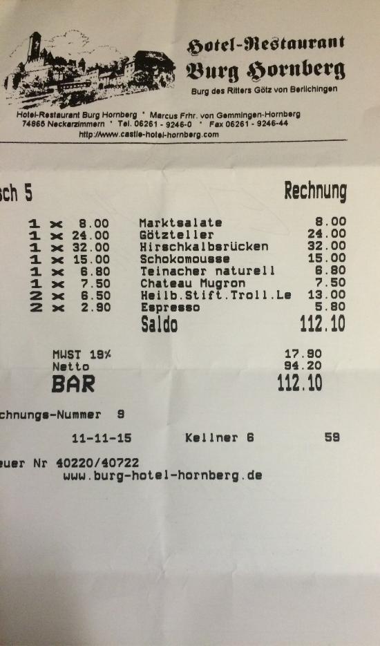 Hotel Restaurant Burg Hornberg