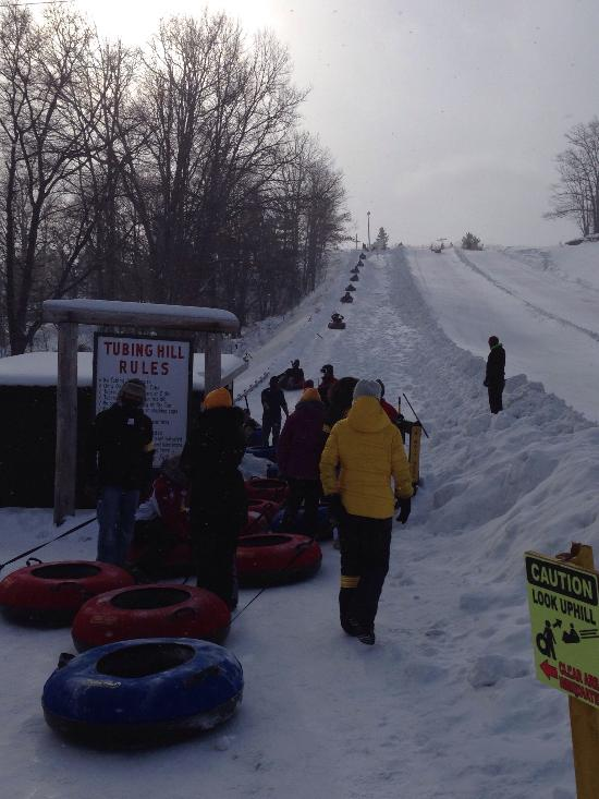 Try a snow tubing session.  So much fun!