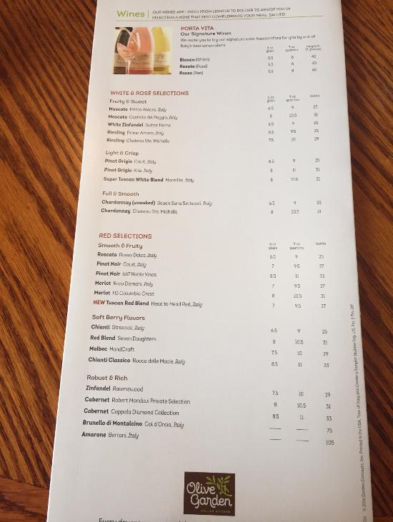 Olive Garden Amherst Menu Prices Restaurant Reviews Tripadvisor
