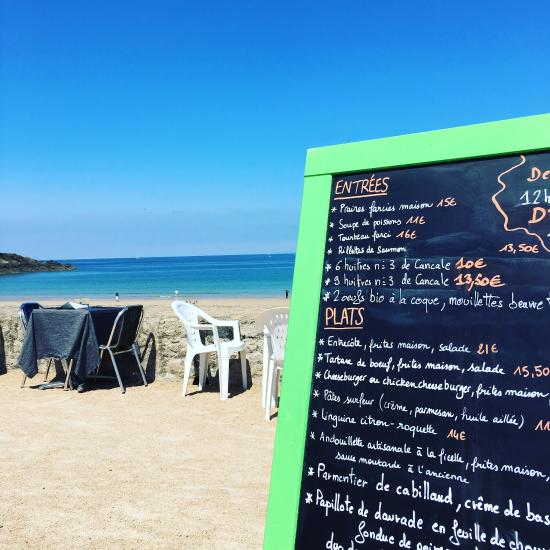 restaurant le surf de jos phine dans saint briac sur mer. Black Bedroom Furniture Sets. Home Design Ideas