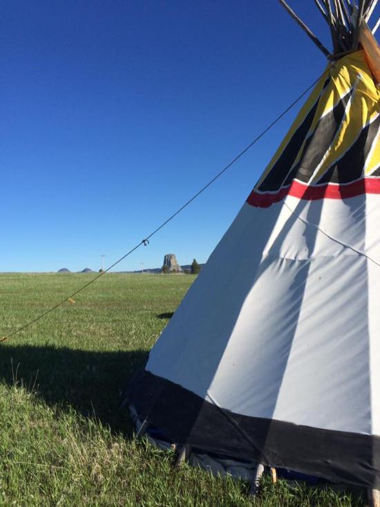 Devils Tower Tipi Camping