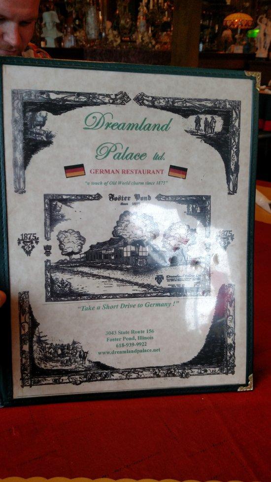 Dreamland Palace Restaurant Menu
