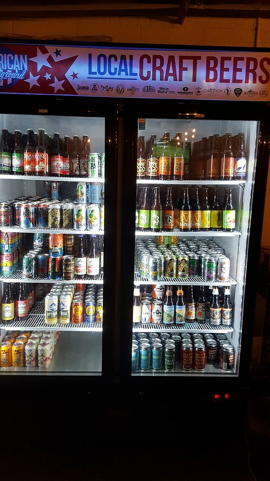 Half of the America Craft Beer Selection.