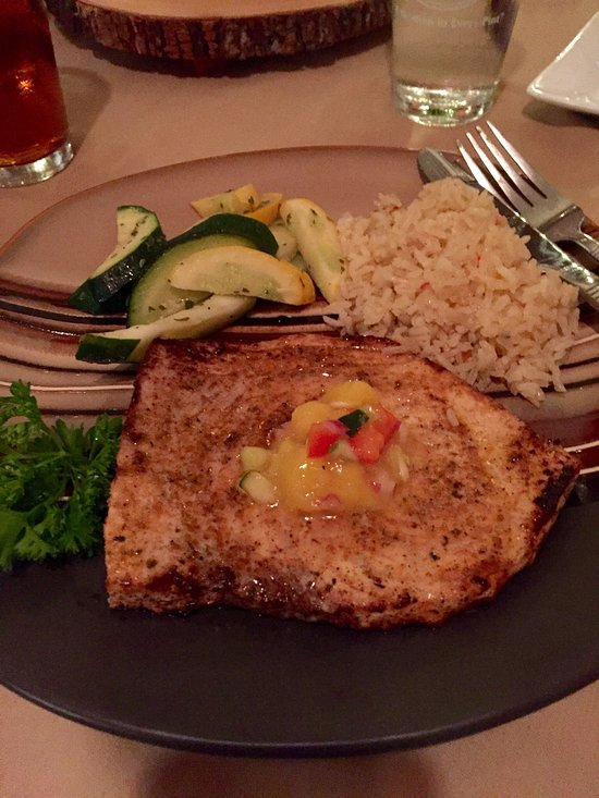Cajun swordfish steak