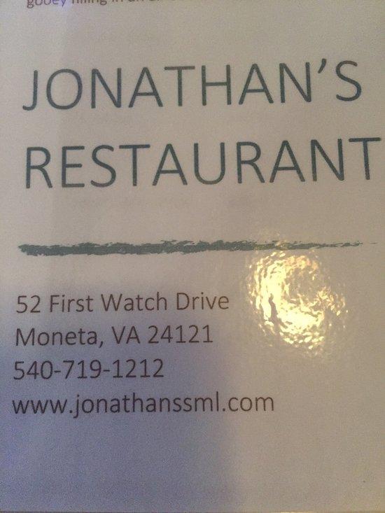 Jonathan S Restaurant Moneta Va