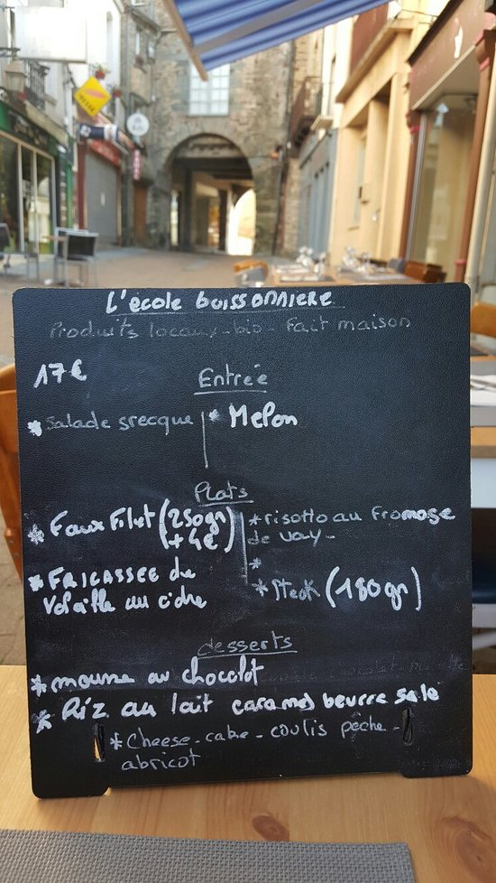 L 39 ecole buissonniere ch teaubriant restaurant avis for Porte neuve chateaubriant