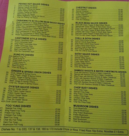 Shotton Fast Food Number
