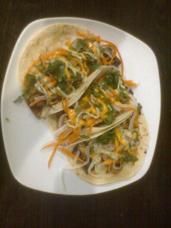 pork belly tacos (yum)