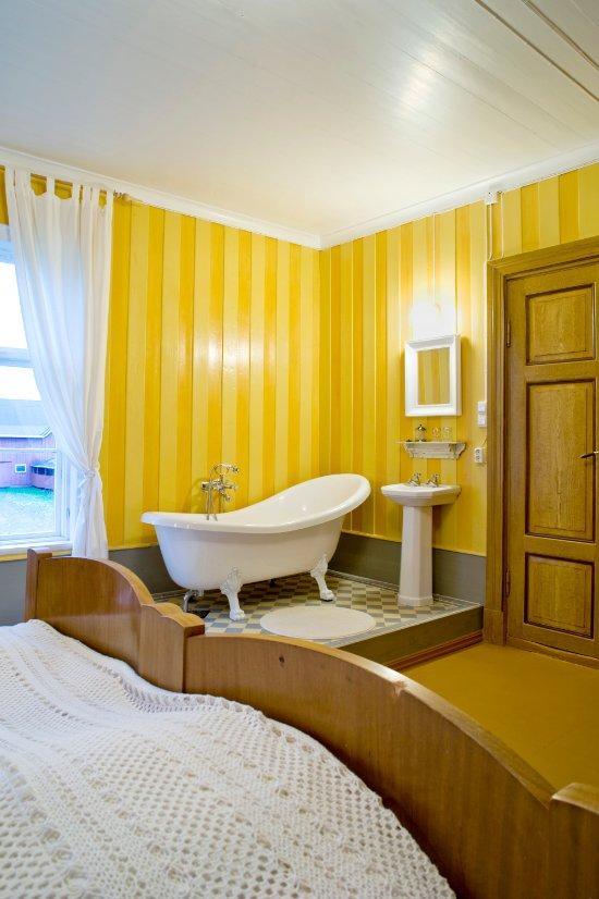 Yellow Floor Bathroom