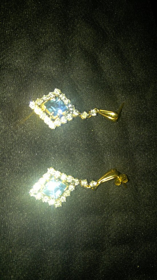 Custom designed earrings by Salem