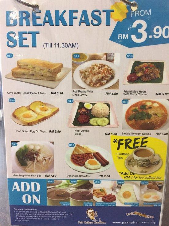 pak hailam kopitiam petaling jaya restaurant reviews phone number photos tripadvisor