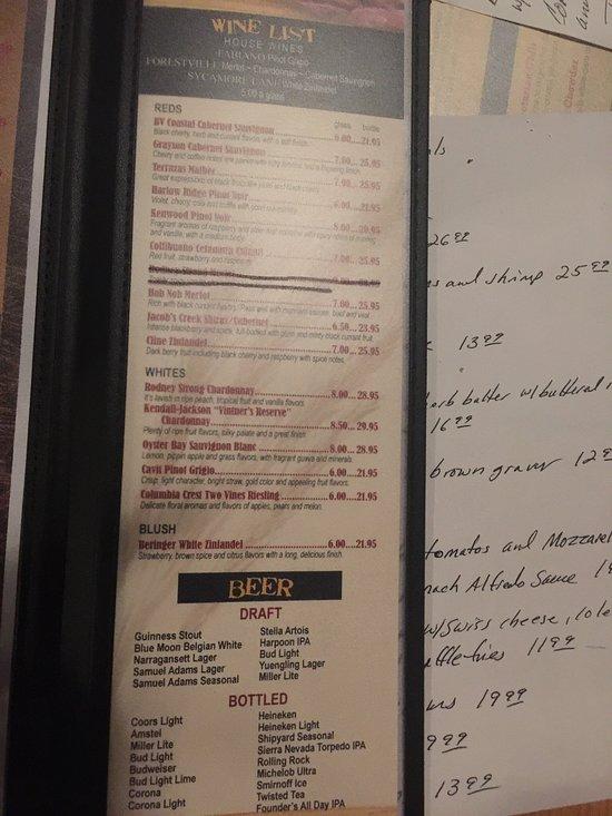Stout providence menu