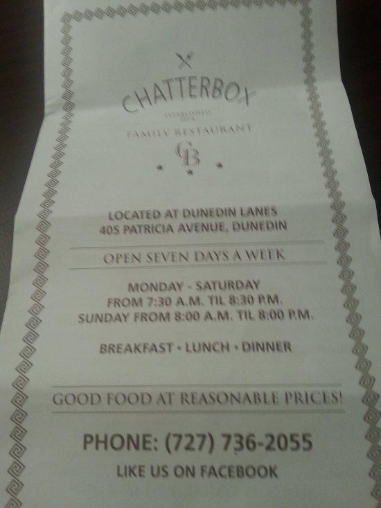 chatter box dunedin restaurant reviews phone number photos tripadvisor