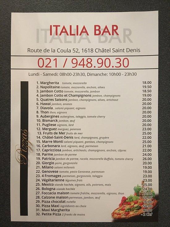 Italia bar chatel saint denis restaurant avis num ro for Garage bon accueil saint denis
