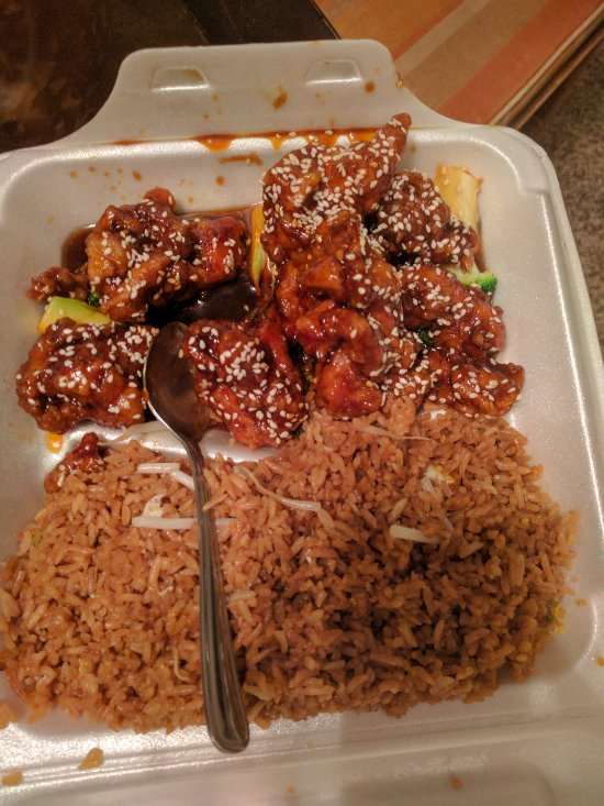 The sesame chicken was simply superb.