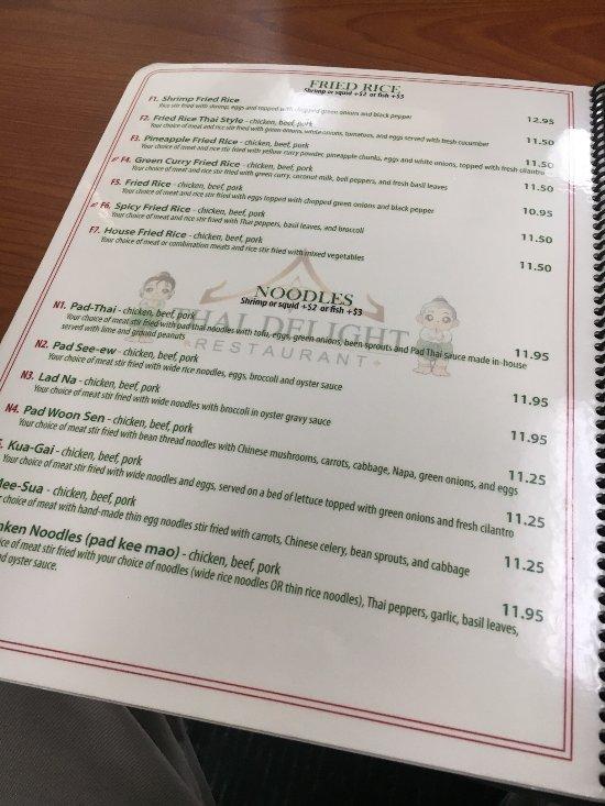Thai Delight Restaurant Anchorage Ak