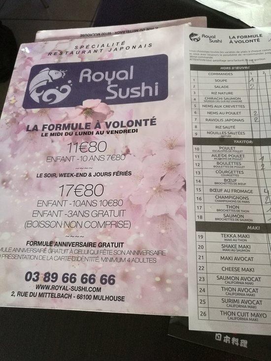 Royal sushi mulhouse restaurant avis num ro de - Numero caf mulhouse ...