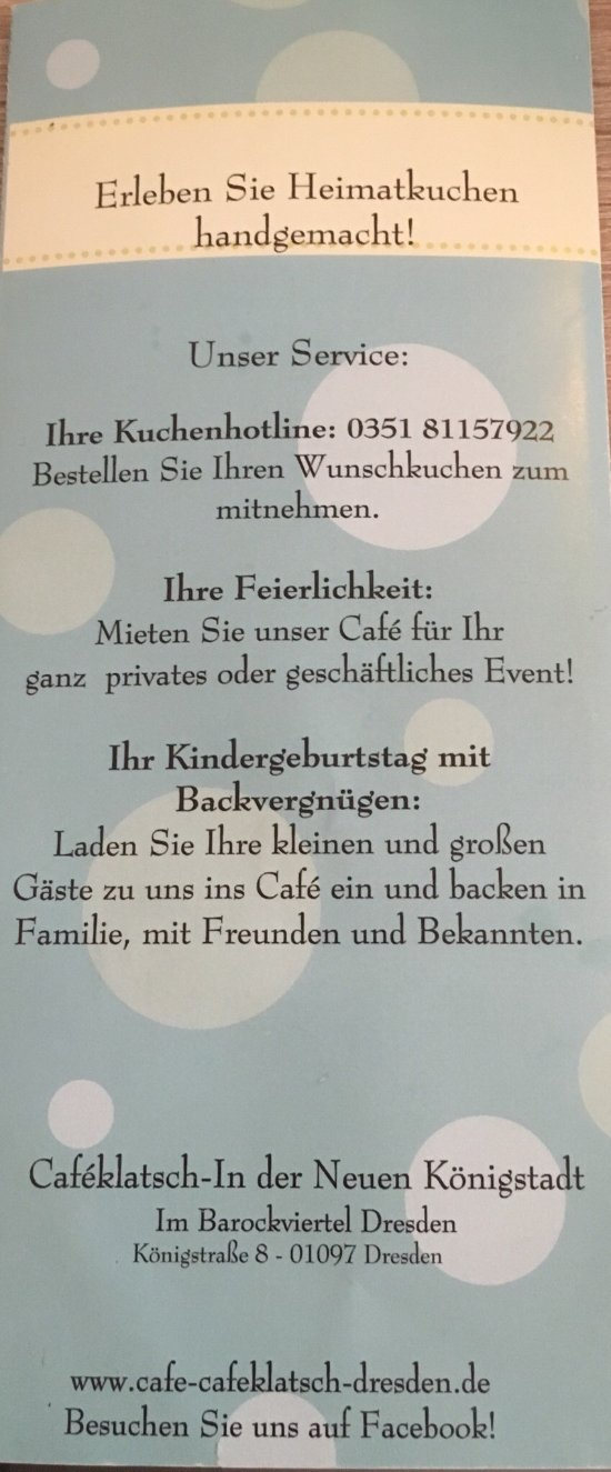 Cafe Klatsch Dresden