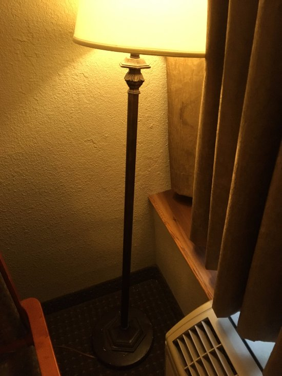 Lamp had to be propped up
