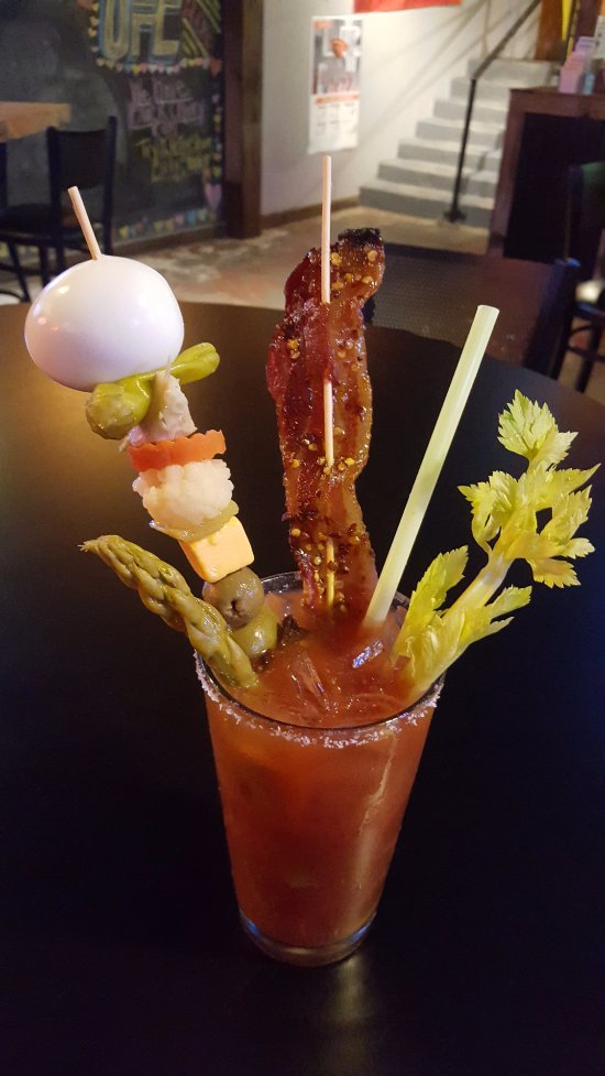 Bitchin Bloody Mary.  Meal in a glass