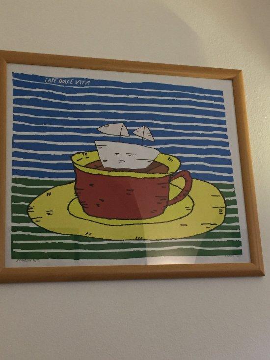 Originální výzdoba kavárny.