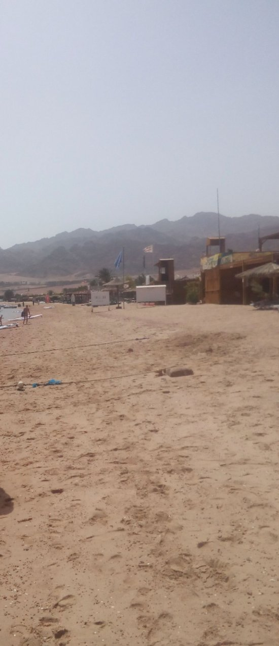 When nature speaks: Dahab mountains are viewable via the beach and sea as well.