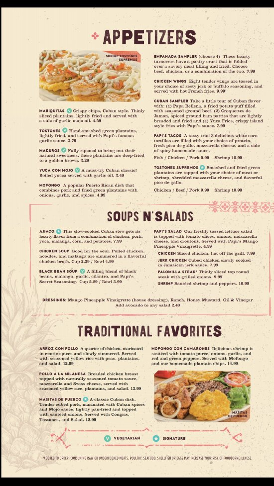 Papi S Cuban Caribbean Grill Stockbridge Menu Prices Restaurant Reviews Tripadvisor