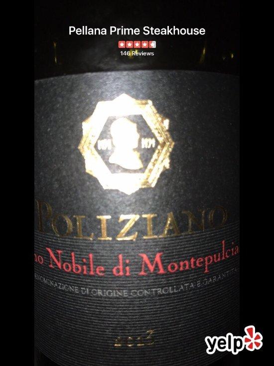 Amazing wine list