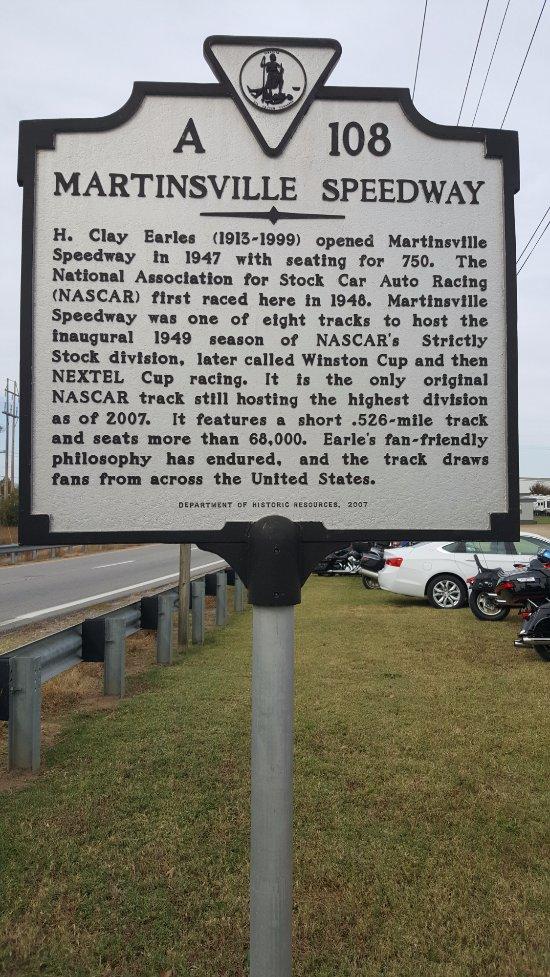 marker for Martinsville Speedway