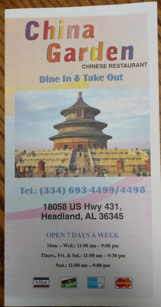 China Garden Headland Restaurant Reviews Phone Number Photos