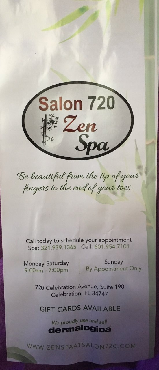 Zen spa celebration fl updated 2018 top tips before for 720 salon celebration fl